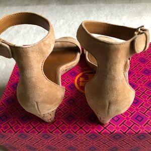 669abcfc9d50 Tory Burch Shoes - Tory Burch Savannah 45 mm Wedge sandal suede sz 6